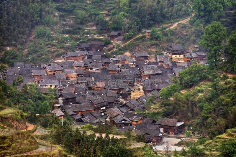 Jilun, χωριουδάκι κοντά σε Zhaoxing, χωριό μειονότητας ήχων καμπάνας, Guizhou prov στοκ εικόνες με δικαίωμα ελεύθερης χρήσης