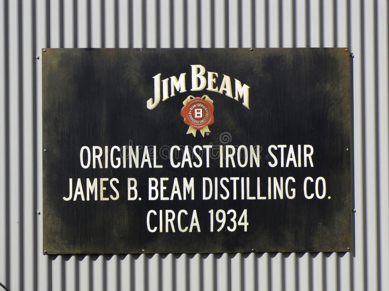 Jim Beam Sign images libres de droits