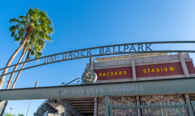 Jim Brock Balowy park i Packard stadium obraz stock