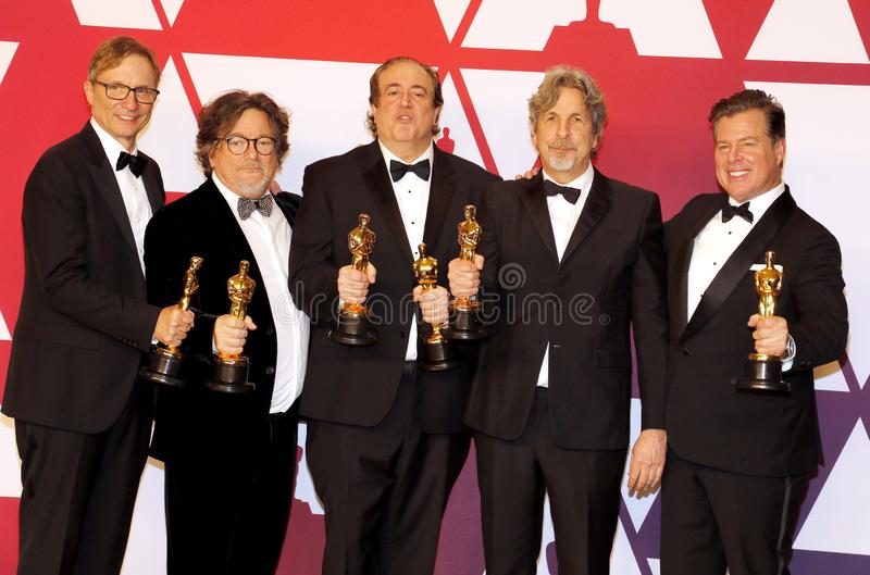 Jim Burke, Charles B Wessler, Nick Vallelonga, Peter Farrelly, Brian Currie images libres de droits