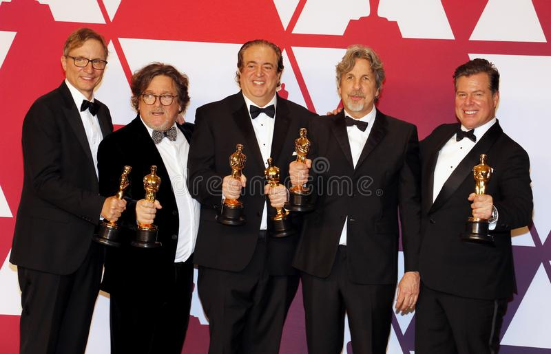 Jim Burke, Charles B Wessler, Nick Vallelonga, Peter Farrelly, Brian Currie image stock