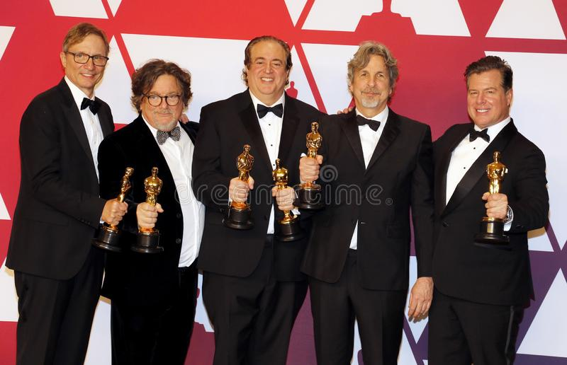 Jim Burke, Charles B Wessler, Nick Vallelonga, Peter Farrelly, Brian Currie photographie stock
