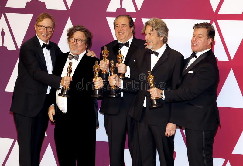 Jim Burke, Charles B Wessler, Nick Vallelonga, Peter Farrelly, Brian Currie photographie stock libre de droits