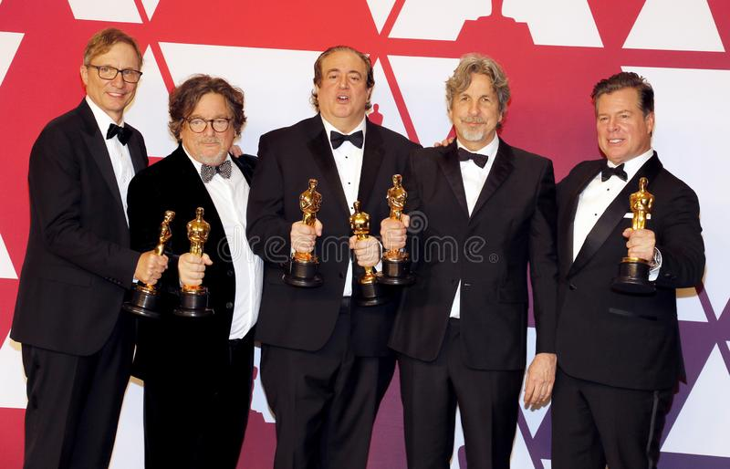 Jim Burke, Charles B Wessler, Nick Vallelonga, Peter Farrelly, Brian Currie photos libres de droits