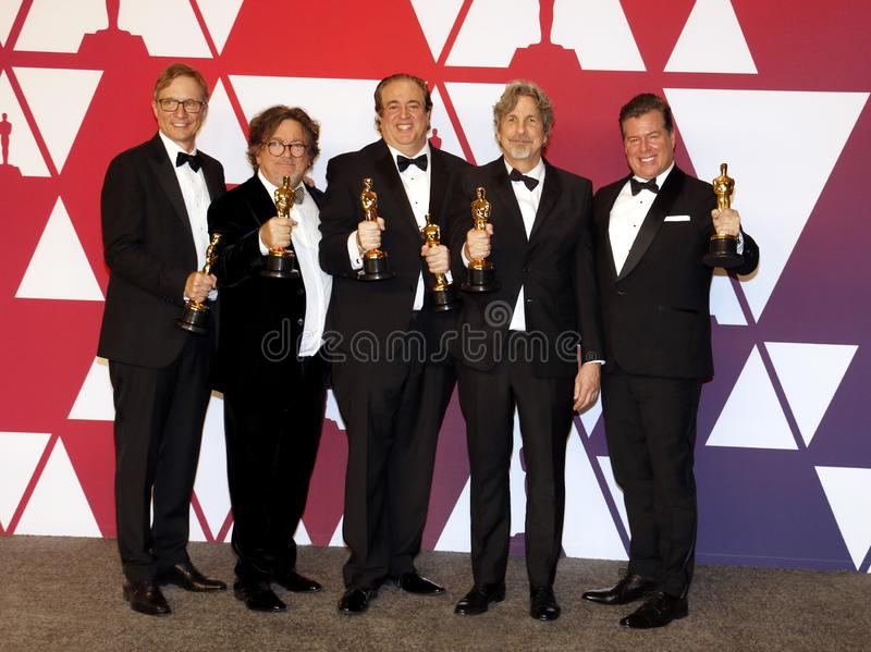 Jim Burke, Charles B Wessler, Nick Vallelonga, Peter Farrelly, Brian Currie images stock