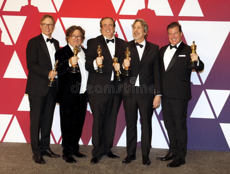 Jim Burke, Charles B Wessler, Nick Vallelonga, Peter Farrelly, Brian Currie image libre de droits