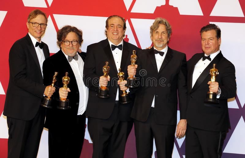 Jim Burke, Charles B Wessler, Nick Vallelonga, Peter Farrelly, Brian Currie photo libre de droits