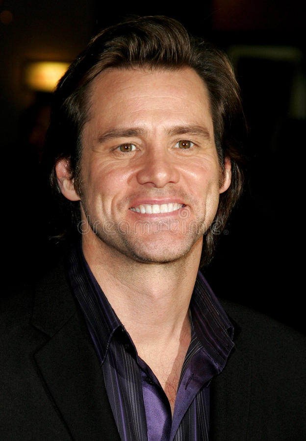 Jim Carrey photo libre de droits