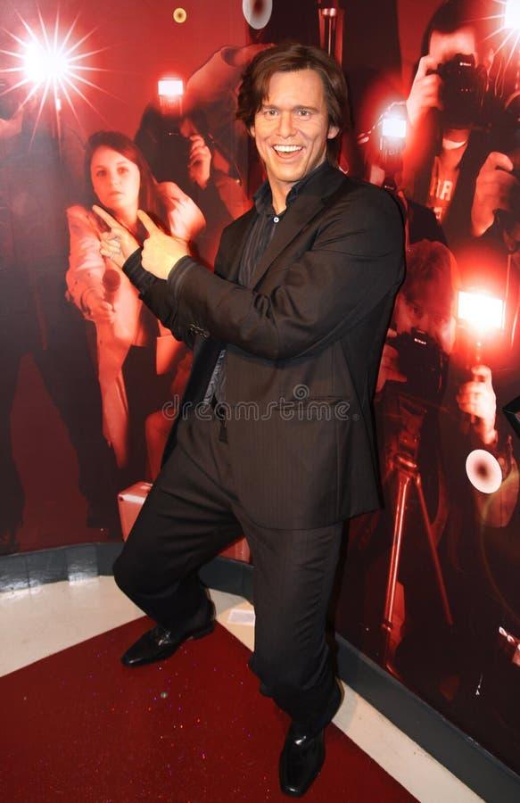 Jim Carrey an der Madame Tussauds stockfoto