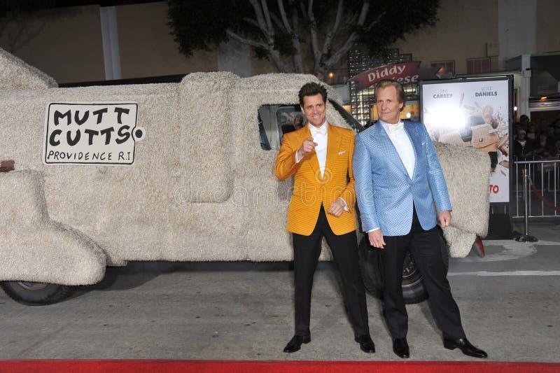 Jim Carrey et Jeff Daniels photo stock