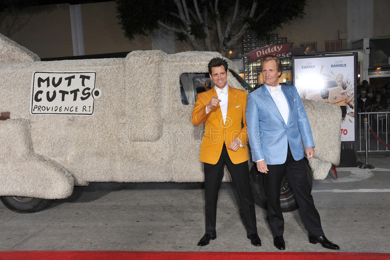 Jim Carrey & Jeff Daniels fotografia stock