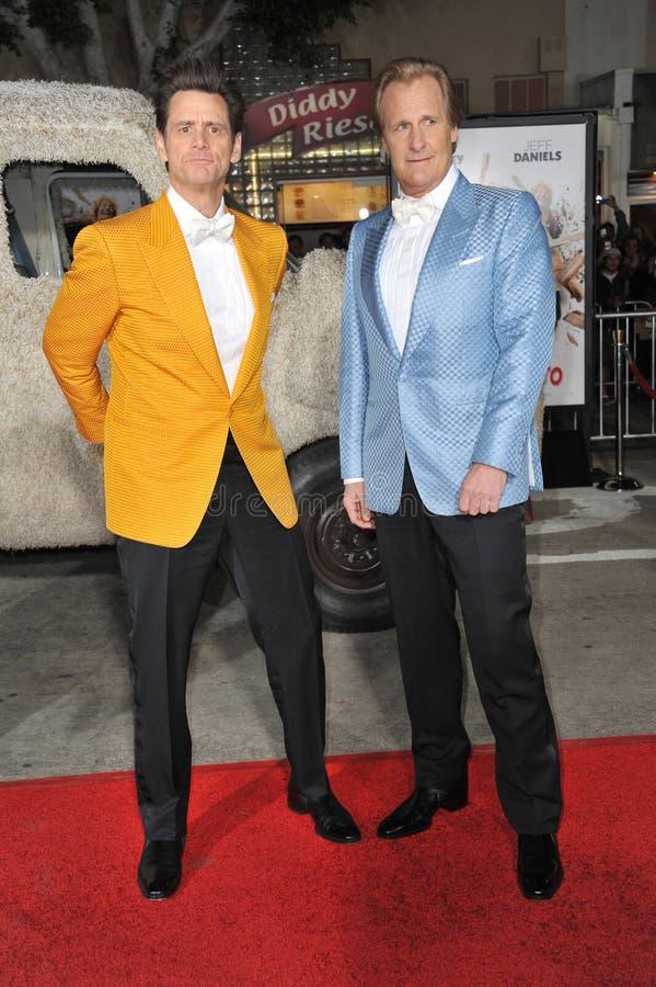 Jim Carrey u. Jeff Daniels stockfoto