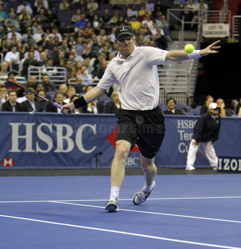 Download Jim Courier - Tennis Legends On The Court 2011 Editorial Stock Photo - Image: 21379613