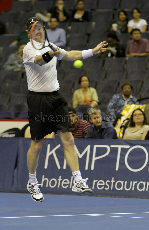 Download Jim Courier - Tennis Legends On The Court 2011 Editorial Image - Image: 21379615