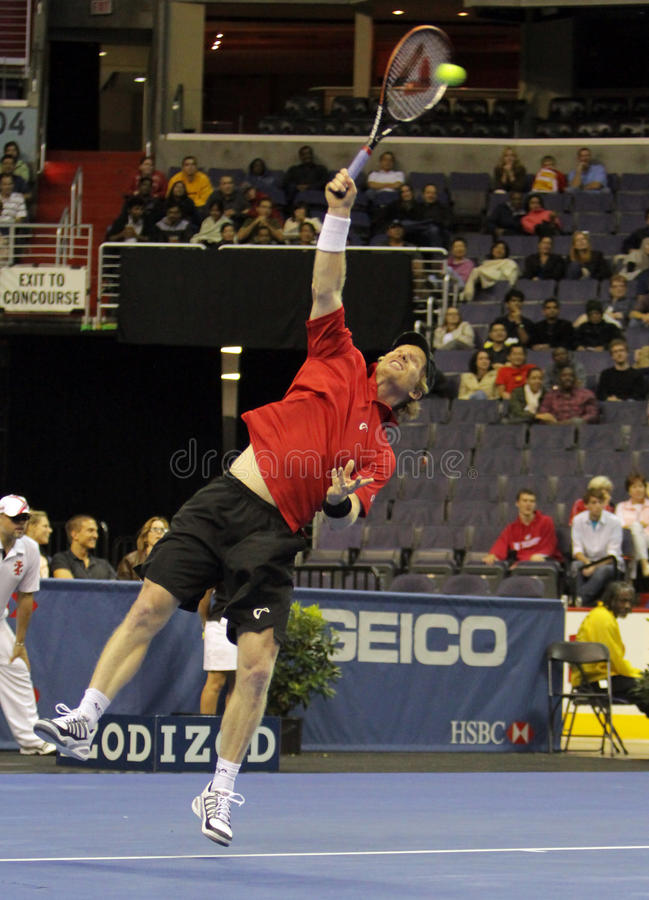 Download Jim Courier - Tennis Legends On The Court 2011 Editorial Photography - Image: 21379617