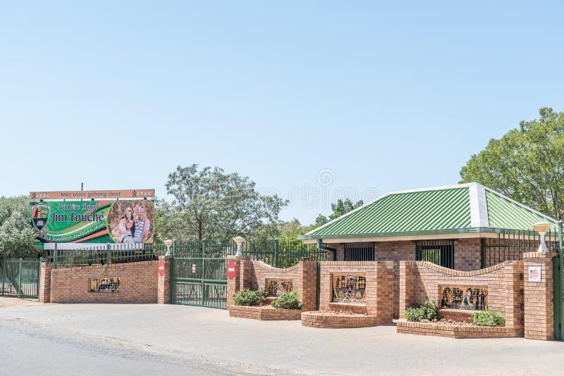 Jim Fouche Primary School em Gardenia Park, Bloemfontein foto de stock
