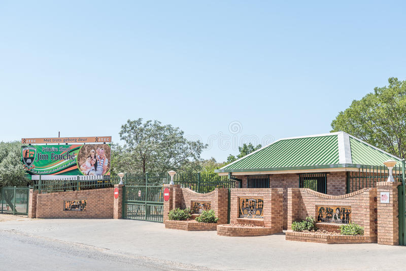 Jim Fouche Primary School en Gardenia Park, Bloemfontein foto de archivo