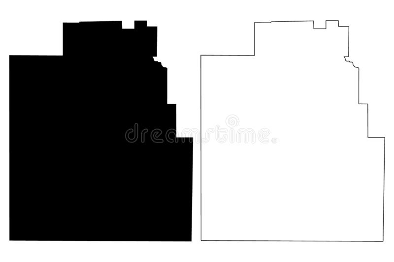 Jim Hogg County, Texas Counties in Texas, United States of America,USA, U.S., US map vector illustration, scribble sketch Jim. Hogg map stock illustration