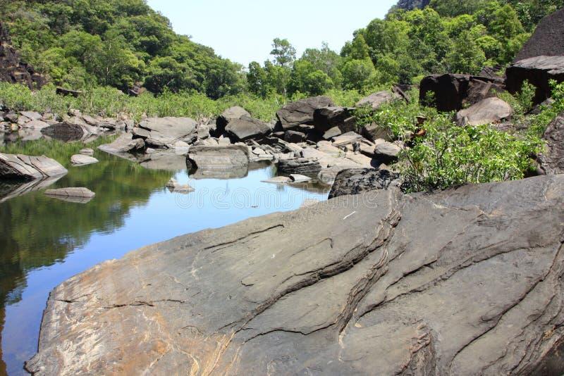 Jim Jim Falls au parc national de Kakadu, territoire du nord, Australie image stock