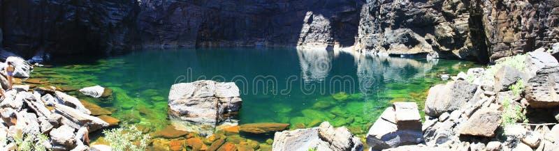 Jim Jim Falls au parc national de Kakadu, territoire du nord, Australie image libre de droits