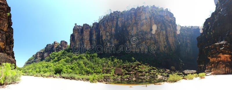 Jim Jim Falls en el parque nacional de Kakadu, Territorio del Norte, Australia fotografía de archivo