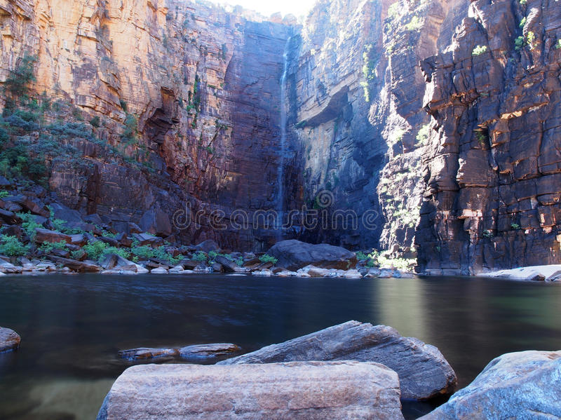 Jim Jim Falls, Kakadu National Park, Australia. Jim Jim Falls plunge pool in Kakadu National Park, Australia royalty free stock photography