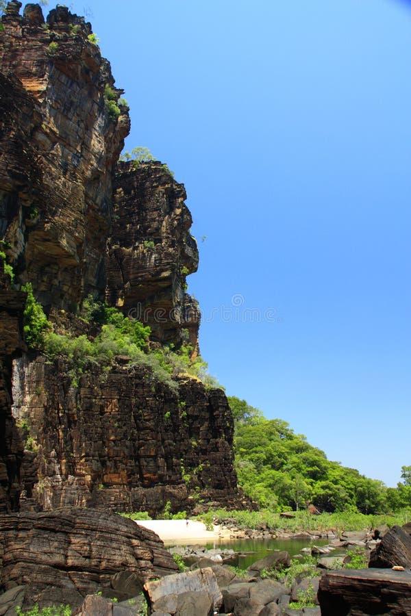 Jim Jim Falls, parc national de Kakadu, Australie images libres de droits