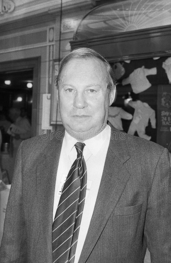 Jim Lester. Conservative party Member of Parliament for Broxstowe, visits the party conference in Blackpool on October 10, 1989 royalty free stock image