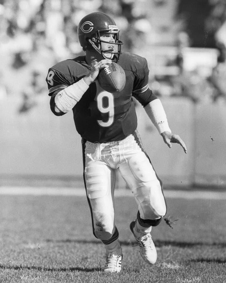 Jim McMahon. Chicago Bears QB Jim McMahon, #9. (Image taken from B&W negative royalty free stock image
