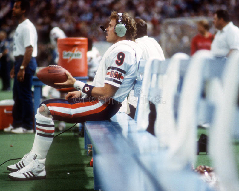 Jim McMahon, Chicago Bears stock image