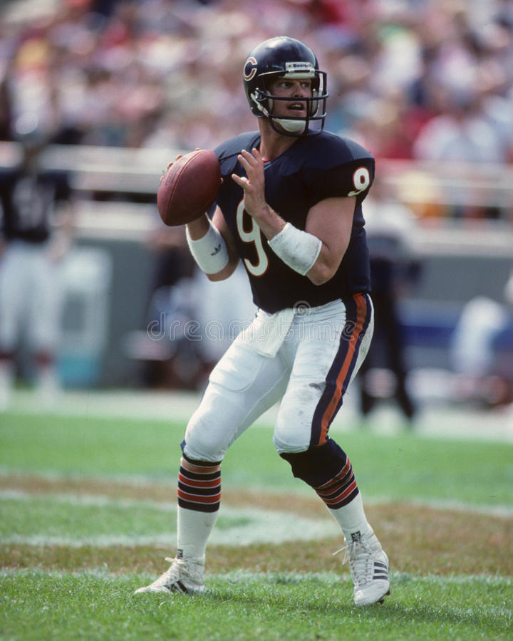 Jim McMahon. Chicago Bears QB Jim McMahon. (Image taken from color slide royalty free stock photos