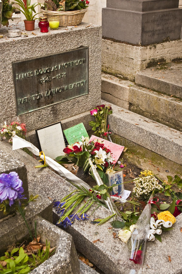Jim Morrison S Grave Editorial Stock Image