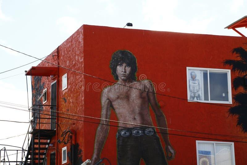 In Jim Morrison Wall Mural royalty-vrije stock foto's