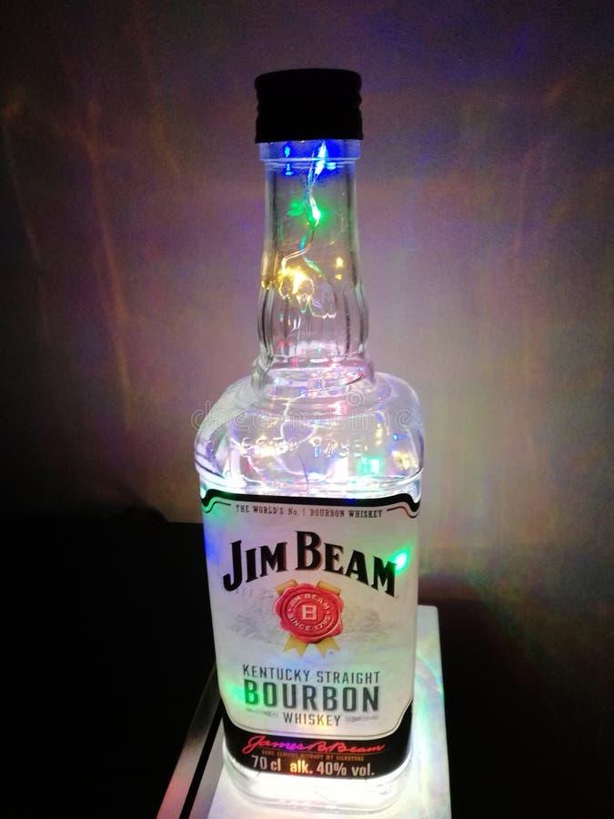Jim promienia butelki koloru lampa zdjęcia stock