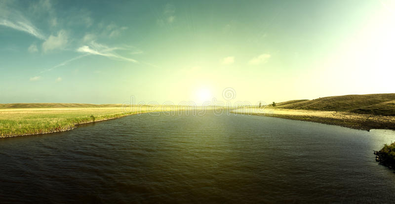 Jim River Sunrise στοκ φωτογραφία