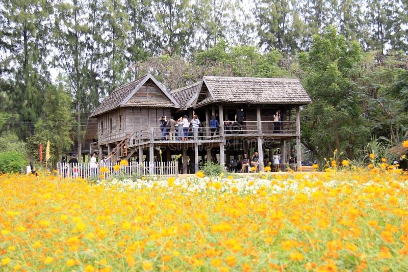 Jim Thompson Farm, Thailand royalty-vrije stock foto's