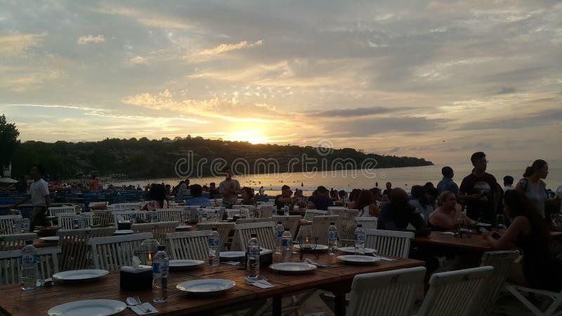 Jimbaran plaża, Bali fotografia stock