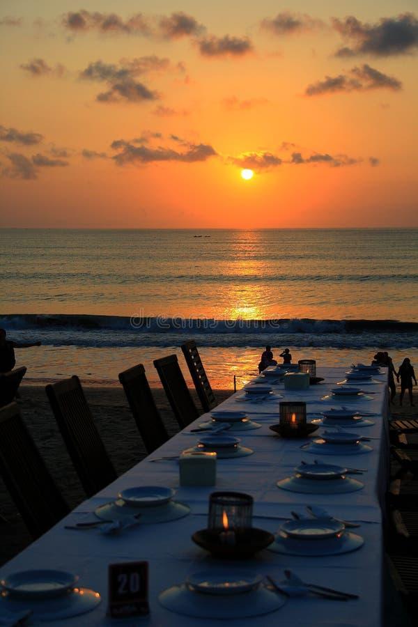 Jimbaran solnedgång fotografering för bildbyråer