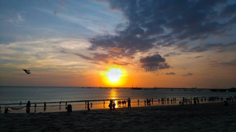 Jimbaran strand, Bali Indonesien royaltyfri bild