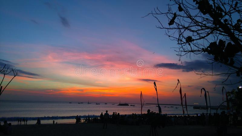 Jimbaran strand, Bali Indonesien royaltyfri fotografi