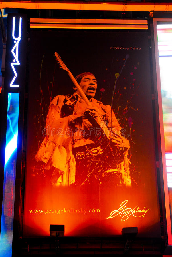 Download Jimi Hendrix Advertisement For George Kalinsky Editorial Photography - Image of hendrix, times: 22494967