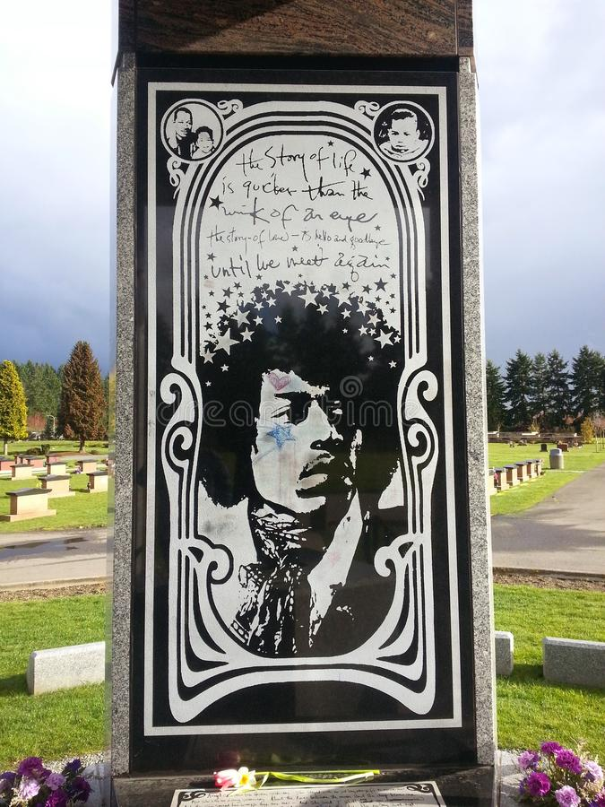 Jimi Hendrix Memorial Renton, Washington photos stock