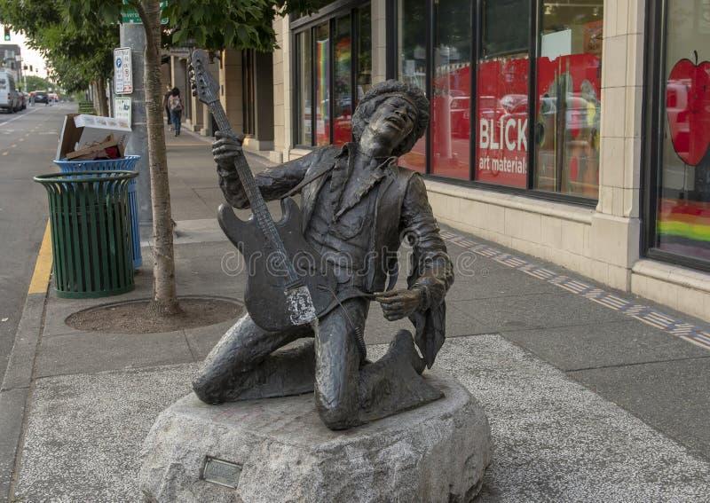 Jimi Hendrix statua Daryl Smith, Seattle, Waszyngton fotografia stock