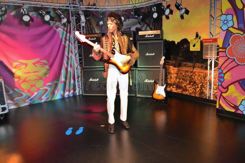 Jimi Hendrix vaxstaty royaltyfria foton