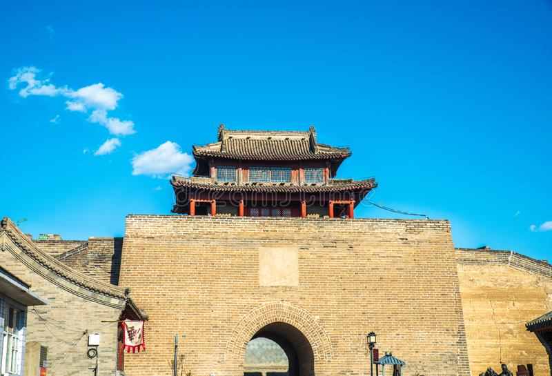 Jiming courier station , the castle of Ming Dynasty. Jiming Post is an ancient post built in Ming Dynasty ,HeBei province , China royalty free stock photo