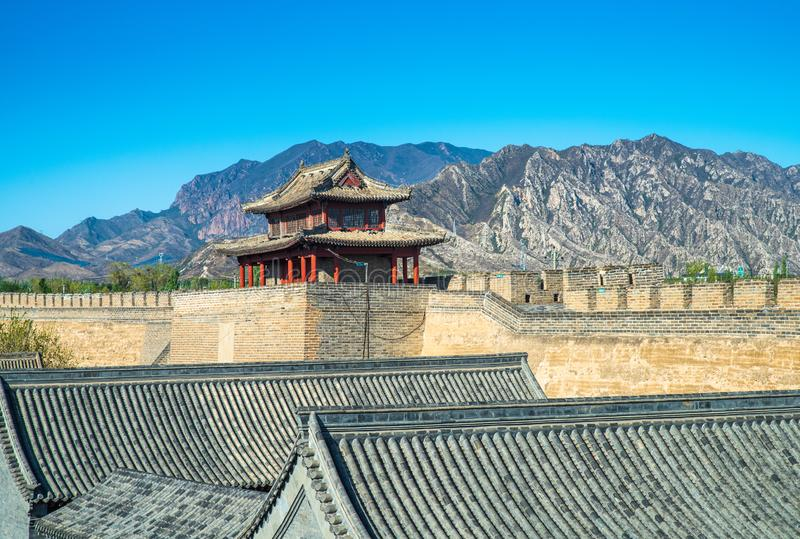 Jiming courier station , the castle of Ming Dynasty. Jiming Post is an ancient post built in Ming Dynasty ,HeBei province , China royalty free stock image