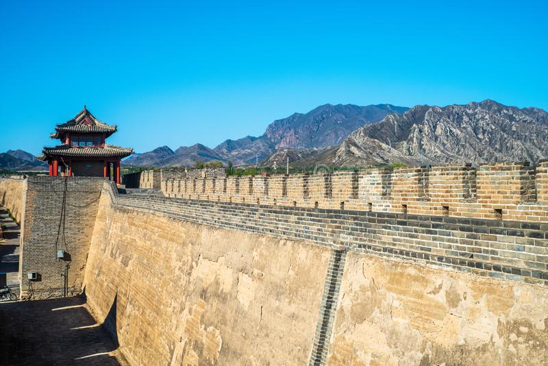 Jiming courier station , the castle of Ming Dynasty. Jiming Post is an ancient post built in Ming Dynasty ,HeBei province , China royalty free stock photos