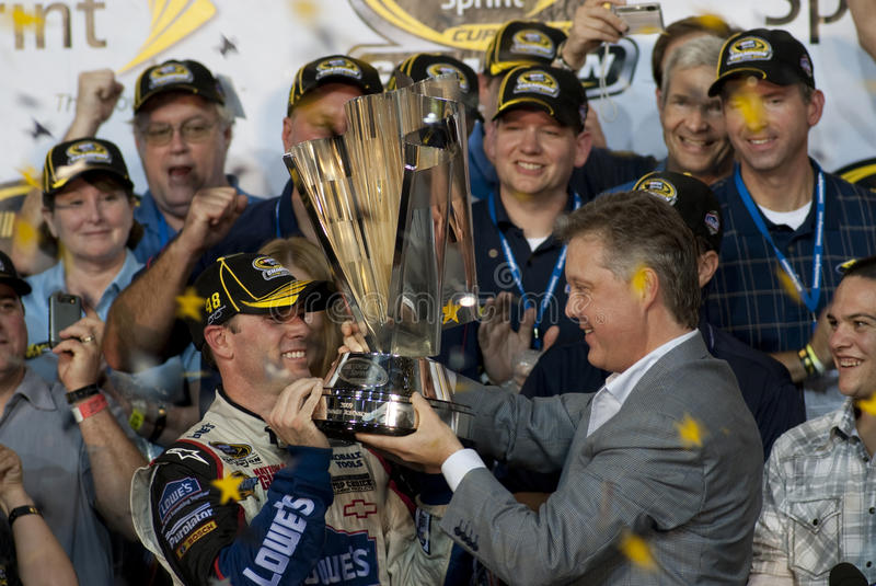 Jimmie Johnson champion NASCAR stock images