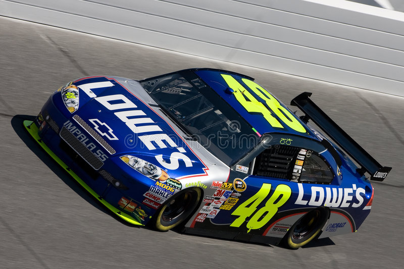 Jimmie Johnson NASCAR Daytona 500 lizenzfreies stockfoto