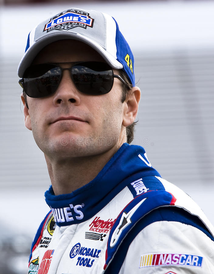 Jimmie Johnson sur la route de mine photos libres de droits